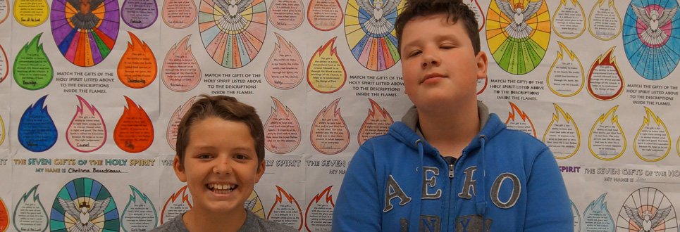 Two St. Thomas Aquinas Catholic School students.